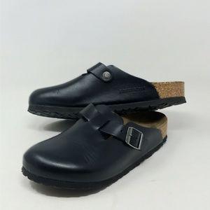 Birkenstock 245 Clog Black Leather EU 38 Germany